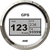 Kus Wasserdicht Digital GPS Tacho Kilometerzähler Messgerät mit Hintergrundbeleuchtung für Schiff Boot Yacht 85mm 9–32V