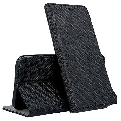 compatibile per WIND SMART 2017 5044Y 5044X 5044D (5.0) Custodia COVER case STAND LIBRO GEL silicone tpu magnete interno PORTAFOGLIO eco pelle porta carte (Nero)