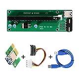 XCSOURCE PCI-E Adattatore carta della colonna montante avanzato Extender 1X a 16X Mining Macchina con 30 centimetri USB 3.0 Cavo di alimentazione AC330