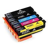IKONG Kompatibel für Epson 26XL 26 XL Multipack, Hohe Ausbeute, 5 Packungen, Arbeiten mit Epson Expression Premium XP-520 XP-610 XP-510 XP-600 XP-605 XP-615 XP-620 XP-625 XP-700 XP-710 XP-720 Drucker