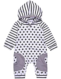 6-24 mois Bebe Mixte Combinaison Pyjama Manches longues manches Bébé Body Oufits