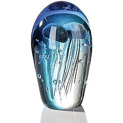 Meduses Verre Sculpture Richard Satava, Ces Méduses Enfermées dans un Vase sont des Sculptures en Verre