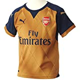 Puma Kinder Trikot AFC Kids Alternate Replica Shirt with Sponsor Logo, Black Iris-Victory Gold, 164, 747575 08