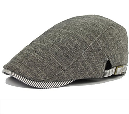 Men Classic Retro Cotton Linen Beret & Men Sunscreen Hat Pour le Printemps, Été, Automne