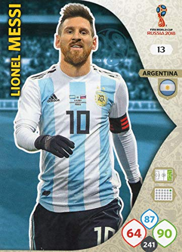 Panini ADRENALYN XL FIFA WORLD CUP 2018 RUSSLAND - LIONEL MESSI BASE TRADING CARD #13 - ARGENTINIEN Base-cup