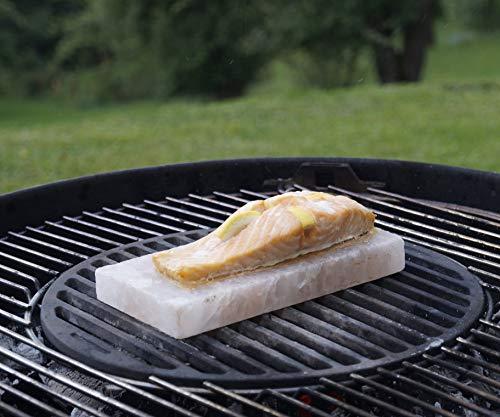 51sSu3tjX%2BL - grillart® Premium XL Salzstein zum Grillen (2er Pack) - Hochwertiger BBQ Salz Grillstein für einen besonderen Geschmack - Original Salzplanke zum Grillen
