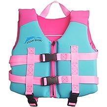Hony Niños Chaleco Flotante Aprender a Nadar Flotador Ajustable Bebé Traje  de Chaleco Natación Traje de d62134a678b