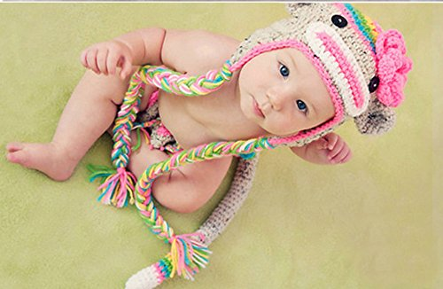 Baby Kostüme Owl Cute (Cute Baby Newborn Infant handgefertigt Crochet Beanie Eule Stil Owl Baby Kleidung fotografiert Zubehör, Cartoon Fashion Kinder Fotografie Requisiten Foto Requisiten Kostüm Kleidung tragen (geeignet für Babys 0–43Monate zu)