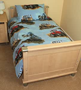 DIGGER Amp TRACTOR COT BED TODDLER DUVET COVER