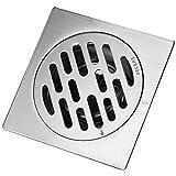 Fdit Quadratischer Abfluss-Starker Edelstahl Anti-Geruch Hotel Badezimmer Bodenbelag Abfall Tor Duschabflussrinne(# 1)