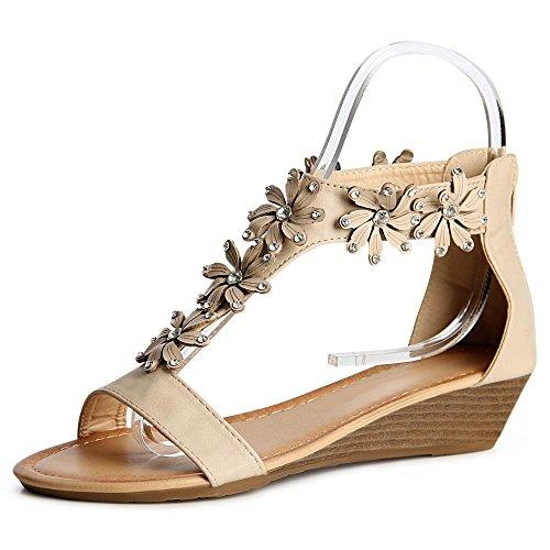topschuhe24 , Sandales pour femme Beige