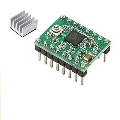 5 Stück A4988 3D Drucker Reprap Stepper Motor Driver -Grün + Kühlkörper Arduino