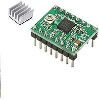 5 pezzi A4988 stampante 3D Reprap driver del motore passo-Green + dissipatore di calore Arduino