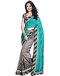 Buyonn Women's Cotton Silk Saree (OFS1594-SARI_Multi-Coloured_Free Size)