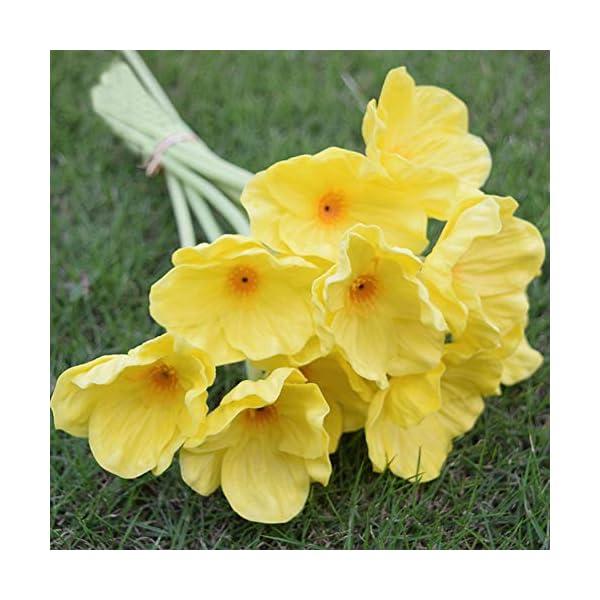 Flores artificiales de amapola, mini flores de seda de amapola roja de tacto real, ramo de boda de plástico para…