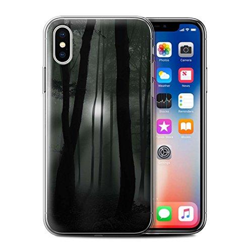 Stuff4 Gel TPU Hülle / Case für Apple iPhone X/10 / Augen/Nacht Muster / Außerirdischer Kollektion Licht/Wald