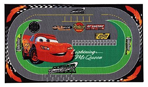 Disney Cars Racing Alfombras Tapetes verde / rojo 100 x 170 cm