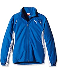 PUMA Jacke TB Running Warm Up Jacket W - Chaqueta de running para hombre, color azul, talla 12 años (152 cm)