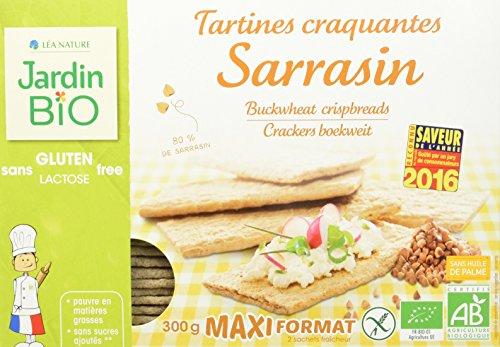 Jardin Bio Tartines Craquantes Sarrasin sans Gluten 300 g - Lot de 4