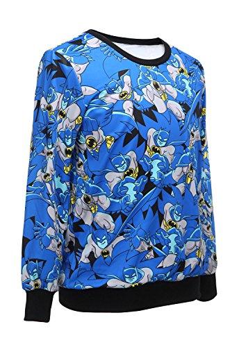 Donna Blu Batman Stampa Felpa, Maglione, Pullover, Maglia da indossare, vestiti casual taglia UK 10-12