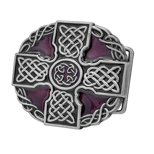 ut Erwachsene Unisex Celtic Iron Cross Maltese Komplizierte Gürtelschnalle Silber ()
