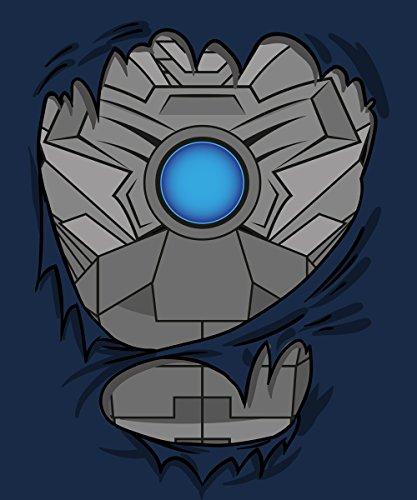 clothinx Herren T-Shirt Cyber Kostüm Navy