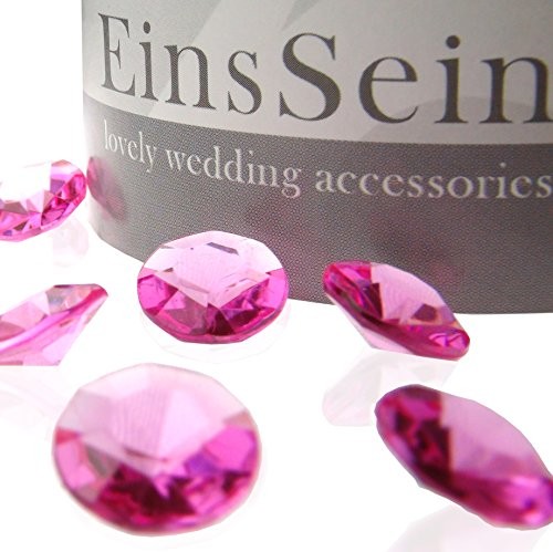 100x FUNKELNDE Diamantkristalle 12mm pink EinsSein® Dekoration Dekosteine Diamanten FUNKELNDE Diamantkristalle Streudeko Konfetti Tischdeko Hochzeit (12mm Diamant-konfetti)