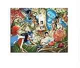 CZYYOU DIY One Piece Rufy Nami Zoro Usopp Sanji Chopper Pittura A Olio Brook By Numbers Immagine Disegno su Tela Olio da Colorare A Mano, con Telaio, 50x60cm