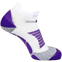 IRONMAN Women's Pro Low Cut Running Socks, White/Purple, Size 35-38