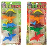 Parteet Dinosaur Shape Erasers For Kids - Pack Of 2 For Birthday Party Return Gifts