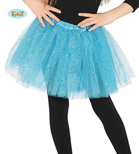 Tütü Tutu blau mit Glitzer für Kinder Fee Ballett Party Rock Tänzerin ca. 30cm