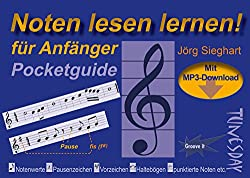 Noten lesen lernen - Pocketguide für Anfänger - inkl. MP3-Download & Video!