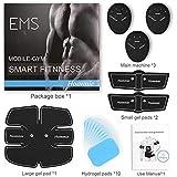 Smart Fitness-Gerät EMS Bauchmuskel Trainingsmaschine, Bauchgürtel Muskelaufbau ABS, Wireless Portable Bauch/Arm/Bein Trainer für Männer oder Frauen, von Hommie, Schwarz - 7