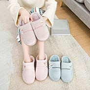 Cicaaaee Soft Comfortable Cotton Fabric Slippers with Love Heart Home Slippers Anti-slip Winter Indoor Warm Sl