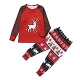 Weihnachten Pyjama Familie Weihnachts Jumpsuit Schlafanzüge Erwachsene Pyjama Set Frauen Männer Kinder Schlafanzüg Weihnachtspyjama Nachtwäsche Mädchen Schlafoverall ABsoar Familienanzug Pyjamas