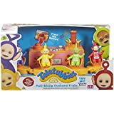 Teletubbies - tren remolcado Tubby natillas, con 4 caracteres teletubbies, multicolores