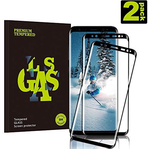 KUTUKU Galaxy S9 Film Protection Ecran Verre Trempé, [2 Pièces] [Plein écran] [Ultra Claire] [Dureté 9H] [Anti Rayures] Film Protecteur en Verre trempé de Haute qualité pour Samsung Galaxy S9