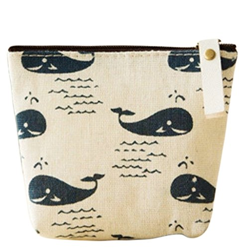 Drawihi Wal-Grafiken klein Beutel Münze Portemonnaie Brieftasche Münze Tasche Halterung Aufbewahrung Tasche tragbare Kosmetiktasche für Damen, Mädchen und Studenten