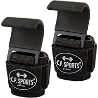 Klimmzughaken - Zughaken Zughilfen Griffhilfe mit Stahlhaken, C.P.Sports