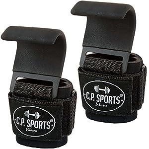 Klimmzughaken – Zughaken Zughilfen Griffhilfe mit Stahlhaken, C.P.Sports
