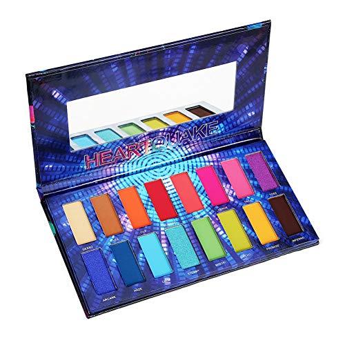 ROMANTIC BEAR Shimmer und Matte High Pigment Buntes Lidschatten Palette, 16 Farben Hochpigmentes Seidiges Pulver Professionelle Kosmetik-Set
