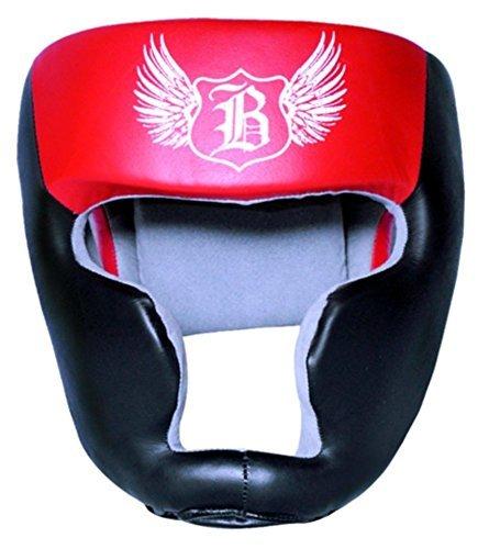 Boom Prime Rot Leder Boxen Kopfschutz Helm Kopfschutz MMA UFC Martial Arts