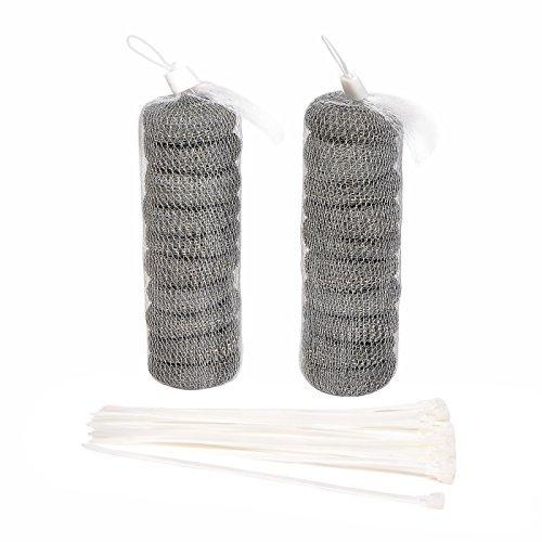 20 Stücke Waschmaschine Lint Traps Flusenfilter Abfluss Siebe Flusen Fänger mit 20 Stücke Kabelbinder - Waschmaschine Flusenfilter