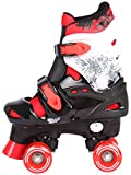 Kinder Rollschuhe Rollerskates verstellbar 28 29 30 31 32 33 34 35 36 NEU Rollerblades Disco Roller (Rot, 32-36 (M))