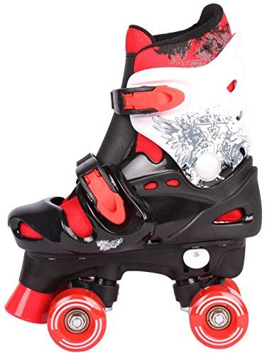Kinder Rollschuhe Rollerskates verstellbar 28 29 30 31 32 33 34 35 36 NEU Disco Roller (Rot, 27-31 (S))