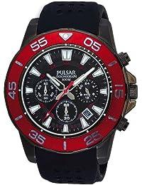 Pulsar PT3137X1 - Reloj de Caballero movimiento de cuarzo con correa de caucho