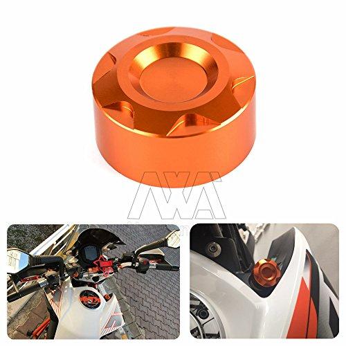 Preisvergleich Produktbild nawenson Motorrad Fashion CNC aluminumn orange Heizkörper Wasserpfeife Gap für KTM Duke 125/200/39
