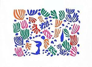 Le perruche et la sirène Par Henri Matisse, Taille :  39 cm x 56 cm Art Poster Print