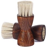 Langer & Messmer kit de 2 brosses à lustrer - brosse blaireau | brosse palot - le soin idéal pour vos chaussures