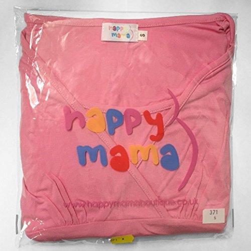 Happy Mama. Femme bébé écharpe de portage maternité discret allaitement. 111p Blanc Fleurs